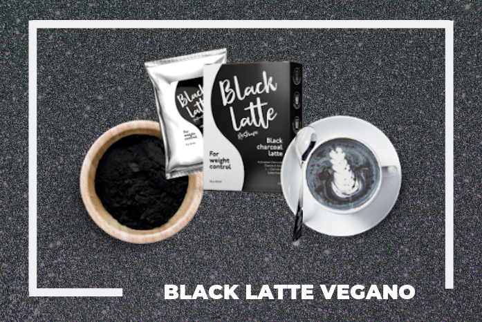 black latte vegano